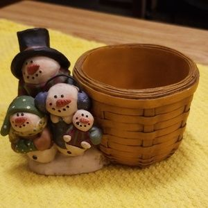 Other - 🤩3/$20 Suzi Resin Snowman Family candle holder